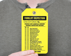 Forklift Inspection Tags