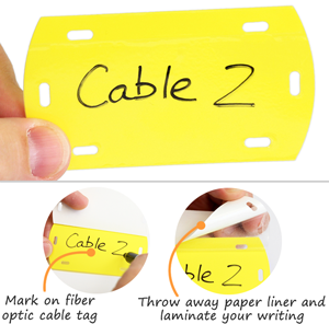 Yellow Blank Fiber Optic Cable Tag