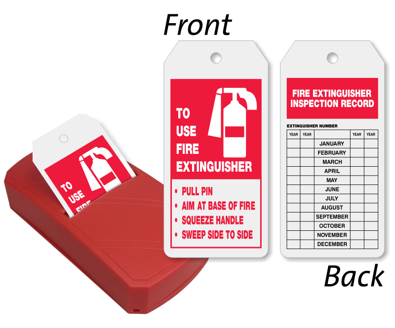 Images for use of fire extinguisher