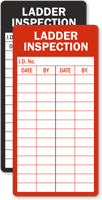 Ladder Inspection Record Label