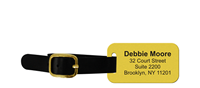 Design Own Brass Luggage Tag