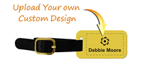 Create Own Brass Luggage Tag