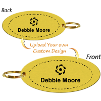 Double Sided Custom Brass Key Chain, Upload Graphic