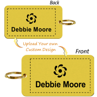 Customizable 2-Sided Brass Key Chain, Add Graphic
