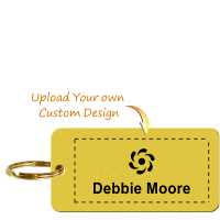 Personalized Brass Key Chain, Upload Design