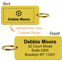Customizable 2-Sided Brass Key Chain, Add Name, Address