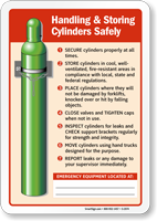 Safe Cylinder Handling Instructions Sign