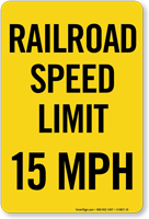 X 15 Speed ... Speed Limit Signs that alert drivers to keep the maximum speed at 15