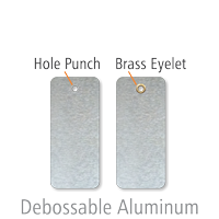 2-Sided Debossable Indentable Blank Write-On Tags