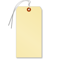 Manila 15-point Cardstock Tag (pre-attached wires)