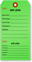 Air Leak Inspection Tag