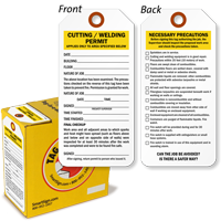 Cutting Welding Permit Lock Out Tag-in-a-Box