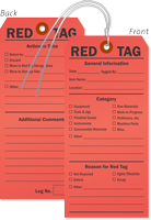 Double-Sided Red 5S Tag