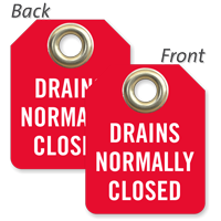 Drains Normally Closed Mini Valve Tag