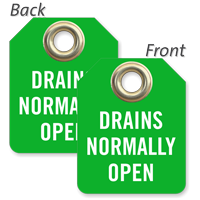 Drains Normally Open Mini Valve Tag