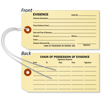 Double Sided Evidence Identification Tag