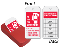 To Use Fire Extinguisher 2-Sided Refill QuickTags™ Dispenser