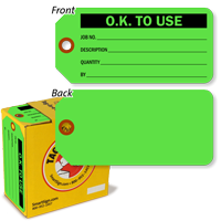 O.K. to Use Inspection Tag-in-a-Box with Fiber Patch