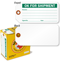 OK For Shipment Inspection Tag-in-a-Box with Fiber Patch