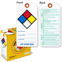 NFPA Chemical Ratings & Instructions Tag-in-a-Box