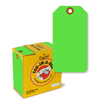 Fluorescent Green Tag with Fiber Patch