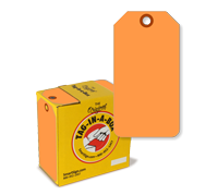 Fluorescent Orange Tag with Fiber Patch
