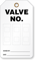 Valve No. double-Sided Tag