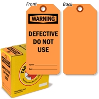 Warning Defective Do Not Use Tag-in-a-Box