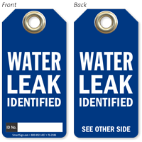 Water Leak Identified Tag