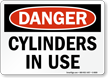 OSHA Danger - Cylinders In Use Sign