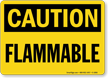 OSHA Caution Flammable Sign