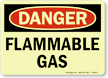 GlowSmart Flammable Gas Sign