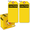 Caution Lockout Tag with Fiber Patch