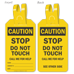 Caution Stop Do Not Touch Self-Locking Tag