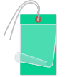 Blank Self-Laminating Write-On Tags With Wire, Dark Green
