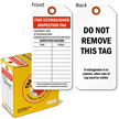 Fire Extinguisher Inspection Tag with Fiber Patch
