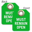 Must Remain Open Mini Tag