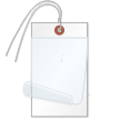 Blank Self-Laminating Write-On Tags With Wire, White