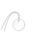 Plastic Circle Wired Tags, White