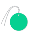 Pre-Wired Plastic Circle Tags; Dark Green