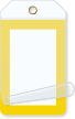 Yellow Border Blank Self-Laminating Tag