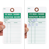Eyewash/Shower Inspection Record Tag