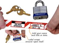 Danger: Do Not Remove Lock Label
