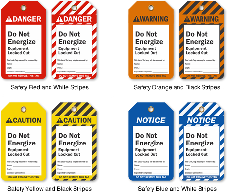 what color warning sign indicates safety instructions
