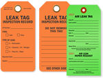 Air and Steam Leak Tags