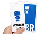 Bathroom Key Tag/Pass