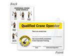 Certification Cards for Crane Operators