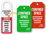 Confined Space Tags | Do Not Enter Without Permit Tags