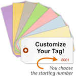 Custom Cardstock Tags with Serial Numbering