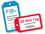 Custom Plastic Tags with a Border